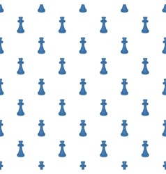 Chess king pattern cartoon style vector image