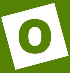 Letter o sign design template element vector