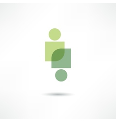 Eco people icon vector