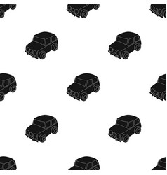 Car icon in black style isolated on white vector