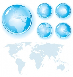 Globes and map vector