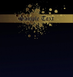 Gold splash navy text background vector