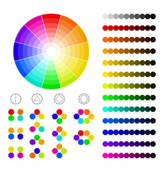Color wheel with shade of colorscolor harmony vector