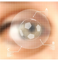 Virtual screen human eye soccer concept vector