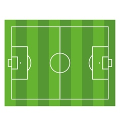 Soccer field top view football green stadium vector