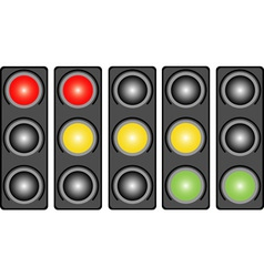 Traffic light with a light vector
