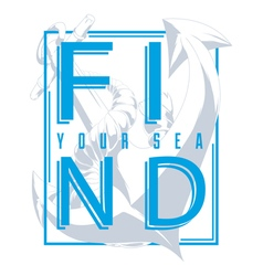 Find your sea vector image