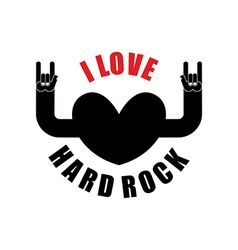 I love hard rock hearts with hands raised up rock vector