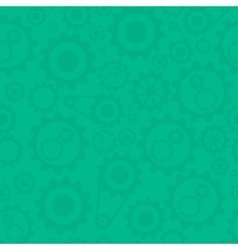 Green background with cogwheels vector