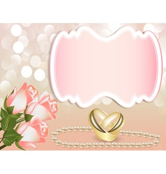 Wedding theme background vector image