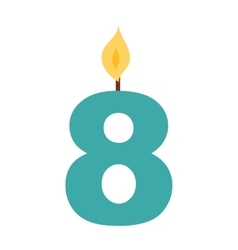 Number candle vector