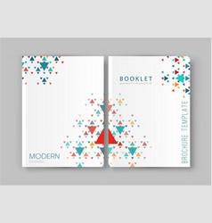 A brochure template modern vector