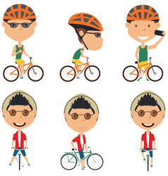 Bicycle rider boys vector