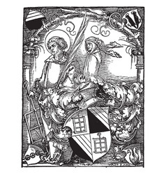 Bookplate of hector pomer was a provost of st vector