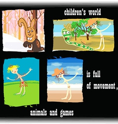 childrens world vector image