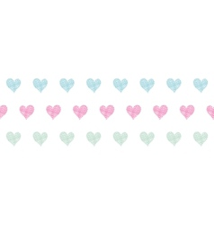 Colorful polka dot textile hearts horizontal vector image vector image