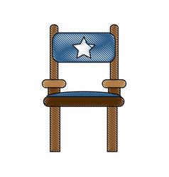 Director wooden chair vector
