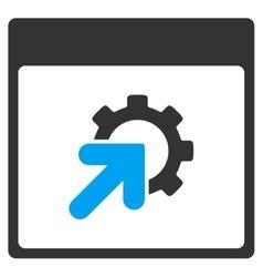 Gear integration calendar page toolbar icon vector