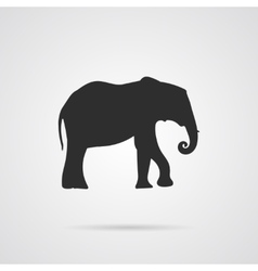 Gray Silhouette of Elephant vector image