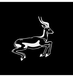 Hand-drawn pencil graphics antelope roe Engraving vector image vector image