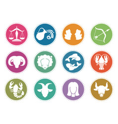 horoscope zodiac signs astrology symbols vector image