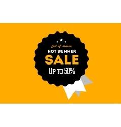 Hot summer sale banner discount banner vector image vector image