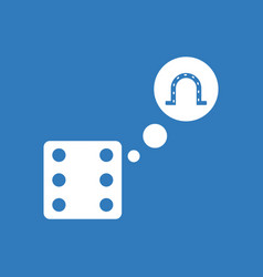 Icon dice and horseshoe vector
