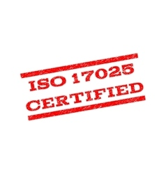 Iso 17025 certified watermark stamp vector