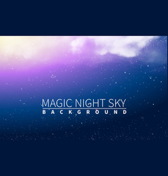 magic cloud light blue burst and star vector image