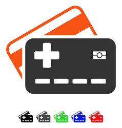 Medical insurance cards flat icon vector