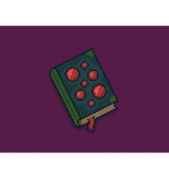 Pixel art spellbook vector