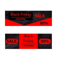 Polygonal banners Black Friday vector image