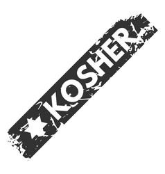 retro kosher teal vintage stamp for quality vector image vector image