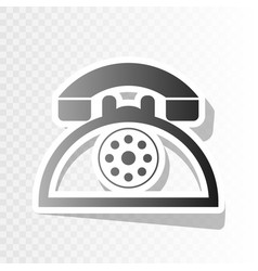 Retro telephone sign new year blackish vector