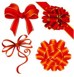 ribbon and bow decoration vector image