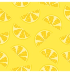 Seamless pattern of yellow lemon slices vector image