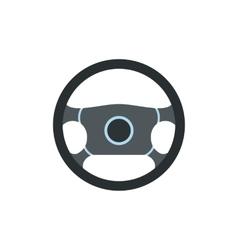 Steering wheel flat icon vector image vector image