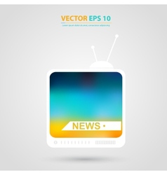 TV icon Tv set with Isolated vector image
