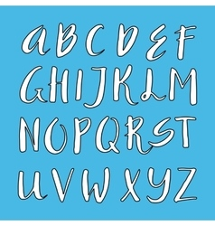 Unique alphabet vector image vector image
