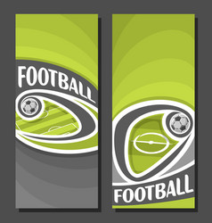 Vertical banners for football vector