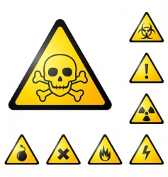 warning signs symbols vector image vector image