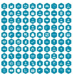 100 favorite work icons sapphirine violet vector image vector image