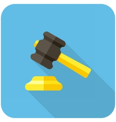 Gavel icon vector
