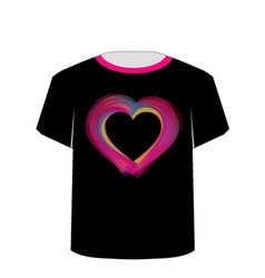 Printable tshirt graphic- valentine hearts vector
