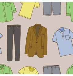 Clothes for men vector image