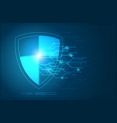Abstract protection concept of digital and vector
