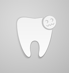 Damaged tooth vector