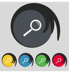 Magnifier glass sign icon zoom tool button vector