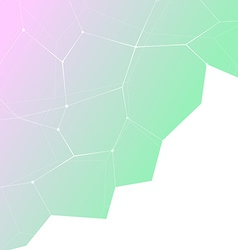 Hipster gradient crystal structure background vector
