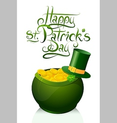 Saint patricks day greeting card design vector